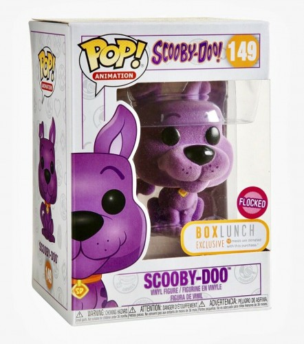 Scooby-doo Purple Flocked Funko Pop! Exclusivo Boxlunch - Scooby-Doo! - #149