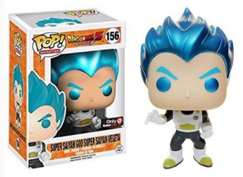 Funko Pop Super Sayian God Spuer Sayian Vegeta Metallic Gamestop 156-Dragon Ball Z4-156