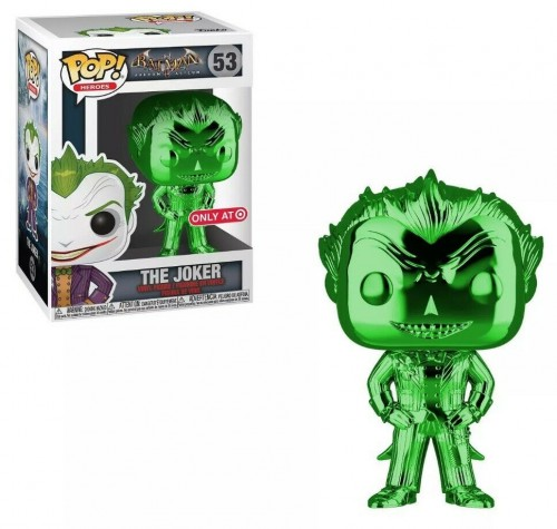 The Joker Green Chrome - Batman Arkham Asylum - Funko Pop! Exclusivo Target - Batman Arkham Asylum - #53