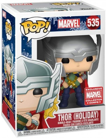 Thor Holiday Marvel Funko Pop! Collector Corps Exclusivo-Marvel Collector Corps-535