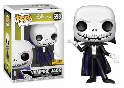 Vampire Jack Skellington Metálico - The Nightmare Before Christmas - Funko Pop! Exclusivo Hot Topic-The Nightmare Before Christmas-598