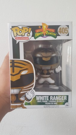 White  Ranger #405 Funko Pop Original Power Rangers Branco-Power Rangers-405