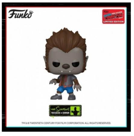 Funko Pop Wolfman Bart Excl. Nycc 2020-The Simpsons-1
