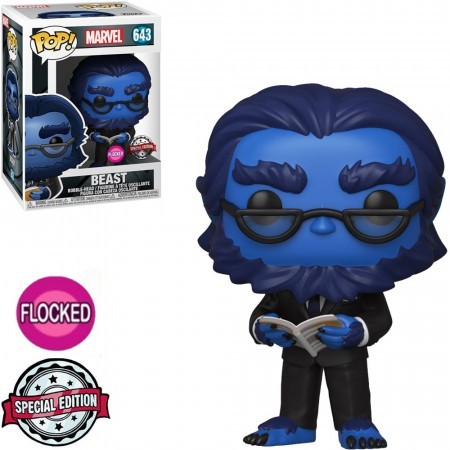 Funko Pop Animação - Marvel X-men 20th- Besta/beast  Floked 643 *danos Na Caixa *-X-Men 20th Anniversary-643