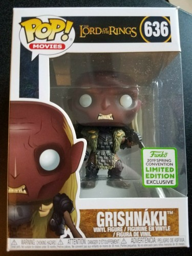 Funko Pop! Lord Of The Rings - Grishnakh #639 Eccc 2019 Exc-Lord of the Rings-1